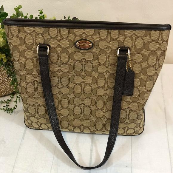 Coach Handbags - Tote Coach NWT Signature Zip Top Shoulder Bag